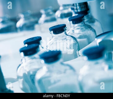 production in pharmaceutical industry - Stock Photo