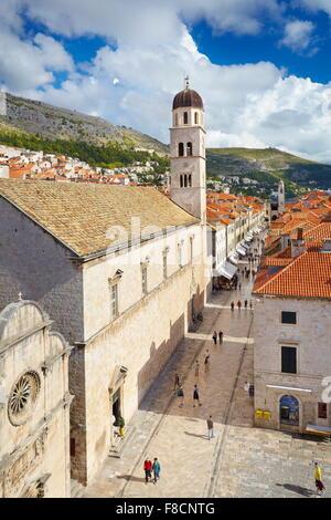 Dubrovnik, Stradun street, main place in Dubrovnik Old Town, Croatia - Stock Photo