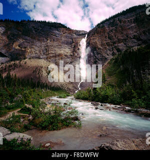 Takakkaw Falls, Yoho National Park, Canadian Rockies, BC, British Columbia, Canada - Stock Photo