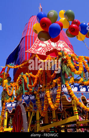 Hare Krishna Chariot Parade and Festival of India, Vancouver, BC, British Columbia, Canada - Brightly Decorated - Stock Photo