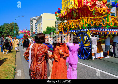 Hare Krishna Chariot Parade and Festival of India, Vancouver, BC, British Columbia, Canada - Stock Photo