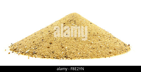 Pile of Golden sand isolated on white - Stock Photo