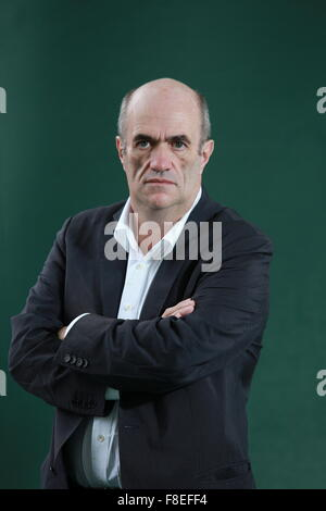 A portrait of Colm Toibin in Charlotte Square Gardens during The Edinburgh International Book Festvial. - Stock Photo