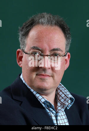 A portrait of Gideon Rachman in Charlotte Square Gardens during the Edinburgh International Book Festival 2011 - Stock Photo