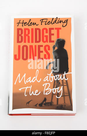 The book Bridget Jones - Mad about The Boy - by Helen Fielding. - Stock Photo