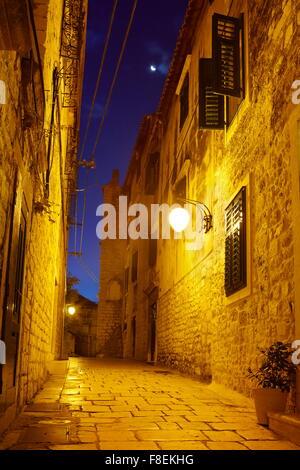 The Old Town in Sibenik, Croatia - Stock Photo