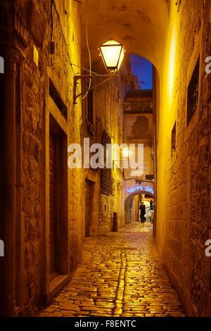Trogir by night, Croatia, Europe