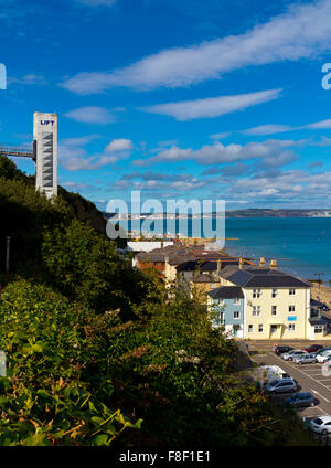 The Beach Lift at Shanklin on the south east coast of the Isle of Wight England UK which transports passengers from - Stock Photo