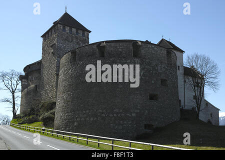 Vaduz Castle is the official residence of the Prince of Liechtenstein. The Palace is named after the town of Vaduz, - Stock Photo