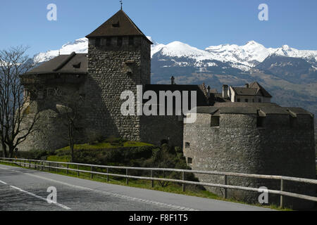 Vaduz Castle is the official residence of the Prince of Liechtenstein. - Stock Photo