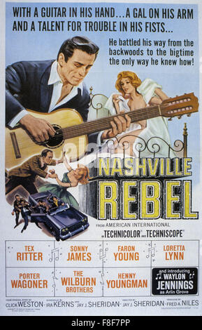 NASHVILLE REBEL 1966 AIP film with Waylon Jennings - Stock Photo