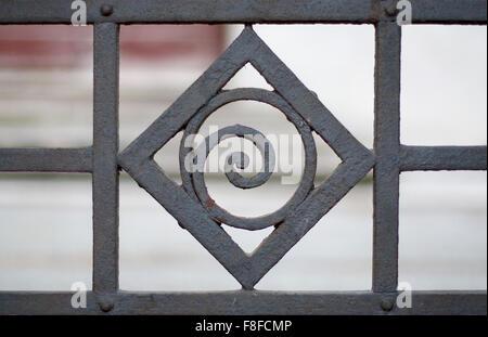 A gate spiral decoration - Stock Photo