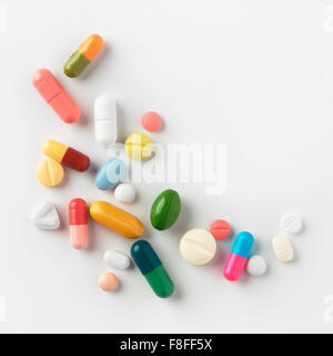 pile of different pills - Stock Photo