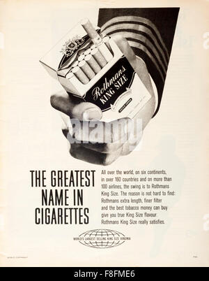 1960s magazine advertisement advertising ROTHMANS KING SIZE Stock ...