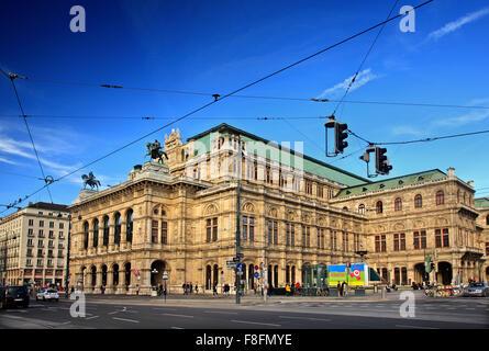 The State Opera House (Staatsoper) of Vienna, Austria. - Stock Photo