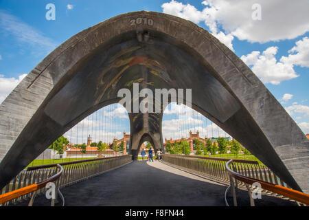 Matadero Bridge. Madrid Rio, Madrid, Spain. - Stock Photo