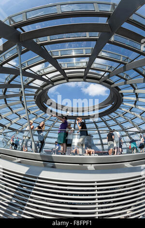 Reichstag Building, Sir Norman Forster, Berlin, Germany - Stock Photo