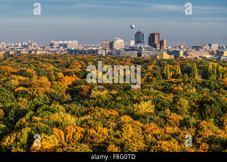 Tiergarten in autumn, Sony Center, Berlin - Stock Photo