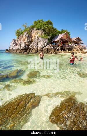 Thailand - tropical beach at Khai Island, Phang Nga Bay - Stock Photo