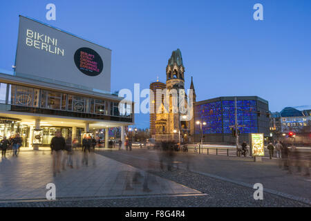 Bikini Shopping Center, Kaiser Wilhelm Memorial Church, Berlin, - Stock Photo