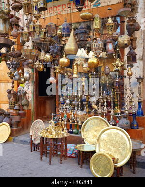 Egypt - Hurghada, bazaar in the old part of town - Stock Photo