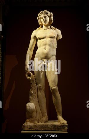 Statue of Dionysus - Bacchus in the Kunsthistorisches Museum ('Art History Museum') in Vienna, Austria. - Stock Photo