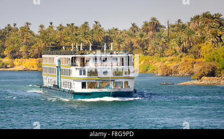 Egypt - cruise on the Nile river, near Aswan - Stock Photo
