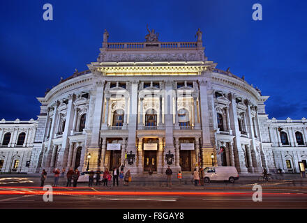 The Burgtheater  originally known as K.K. Theater an der Burg, then until 1918 as the K.K. Hofburgtheater, is the - Stock Photo