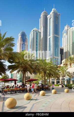 Dubai cityscape - Marina, United Arab Emirates - Stock Photo