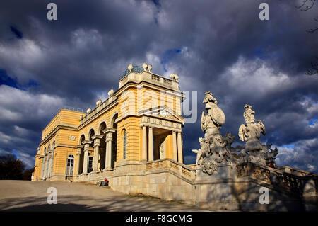 "The Gloriette, the ""belvedere"" of Schönbrunn palace, Vienna, Austria. - Stock Photo"