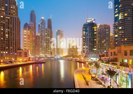 Dubai skyline - Marina, United Arab Emirates - Stock Photo