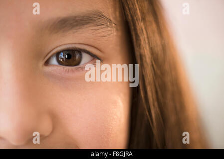 Close up of eye of girl - Stock Photo