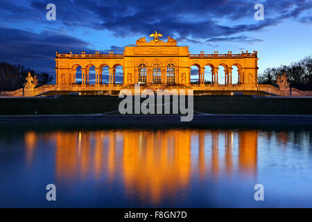 The Gloriette, the 'belvedere' of Schönbrunn palace, Vienna, Austria. - Stock Photo