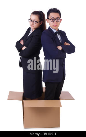 Pair of young in the box - Stock Photo