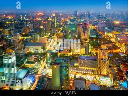 Thailand - Bangkok cityscape view from Baiyoke Sky Tower - Stock Photo