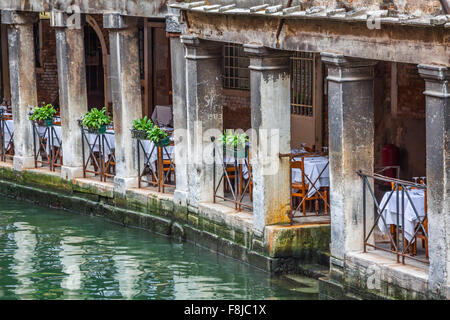 Beautiful view on the Venice city in Italy with canal - Stock Photo