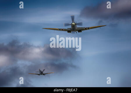 RAF Spitfire fighter - Stock Photo