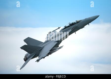 Boeing F/A-18F Super Hornet Stock Photo