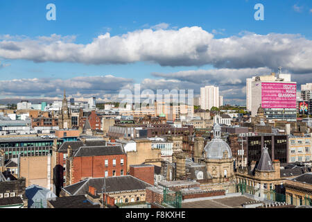 View looking North East over Glasgow city centre  from the Lighthouse Tower, Scotland, UK