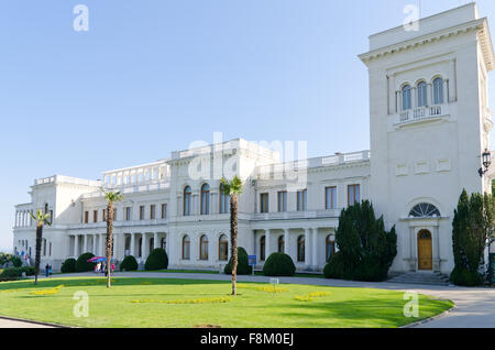 Livadia palace, Crimea, Ukraine. Location of the historic Yalta Conference at the end of World War II. - Stock Photo