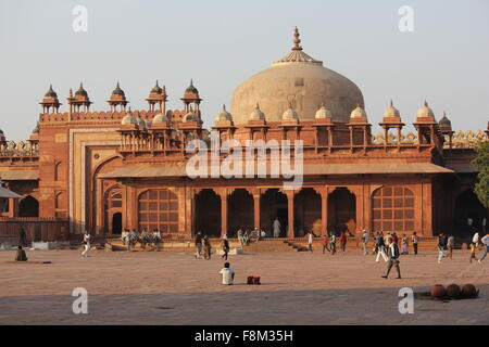 Agra, India, November 26 2012: Fatehpur Sikri, a city and a municipal board in Agra district, India. A walled city, UNESCO herit