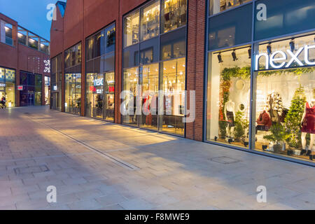 Christmas at the Old Market shopping centre Hereford UK - Stock Photo