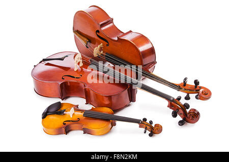 A group of instruments isolated on white - Stock Photo