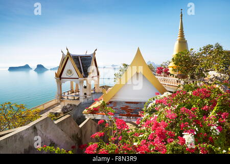 Thailand - Buddhist small monastery on the Khao Chong Krachok mountain, located near Prachuap city - Stock Photo