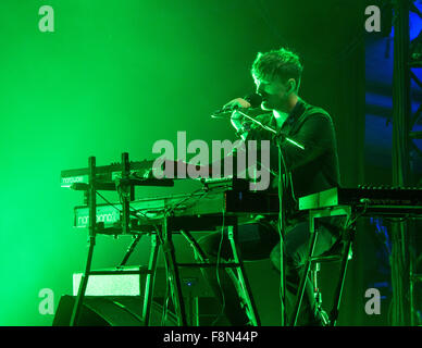 James Blake playing live - Stock Photo