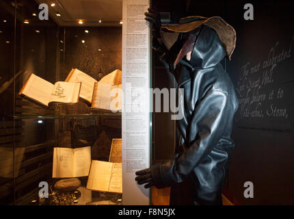Edinburgh. Scotland 10th December. Exhibition Plague. A cultural history of contagious diseases in Scotland display - Stock Photo