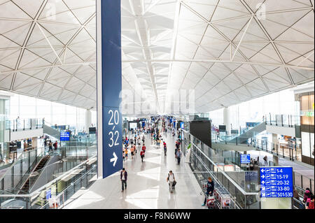 Hong Kong Chek Lap Kok International Airport, Hong Kong, China. - Stock Photo