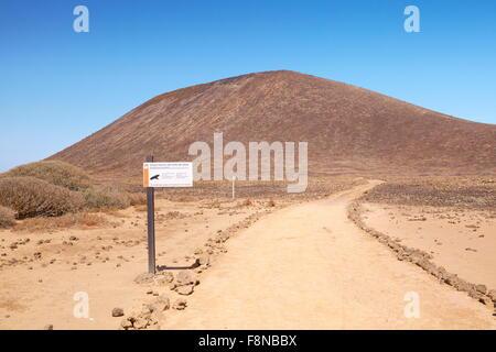 Parque Natural del Isolate de Lobos, Lobos Island, Spain, Canary Islands - Stock Photo