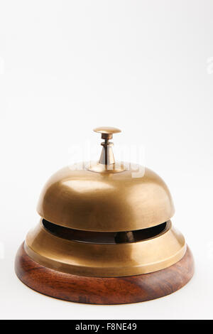 Service Bell On White Background - Stock Photo