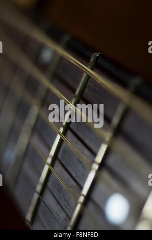 vibrating string on guitar stock photo royalty free image 7596860 alamy. Black Bedroom Furniture Sets. Home Design Ideas